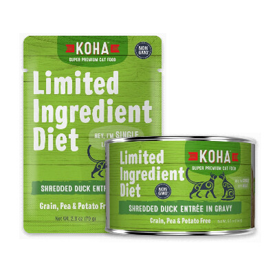 buy Koha-Minimal-Ingredient-Diet-Shredded-Duck-Entre-in-Gravy-For-Cats