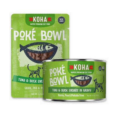buy Koha-Pok-Bowl-Tuna-And-Duck-Entre-in-Gravy-For-Cats