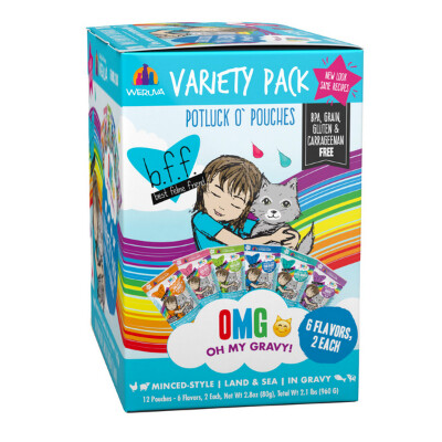 buy Weruva-BFF-OMG-Potluck-OPouches-Variety-Pack-Cat-Food