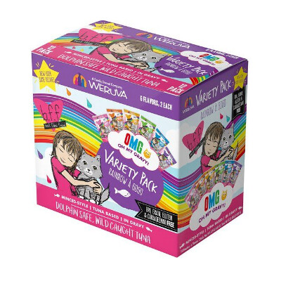 buy Weruva-BFF-OMG-Rainbow-A-Gogo-Variety-Pack-Wet-Cat-Food