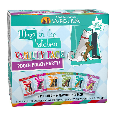 buy Weruva-Dogs-in-the-Kitchen-Pooch-Pouch-Party-Variety-Pack-Dog-Food