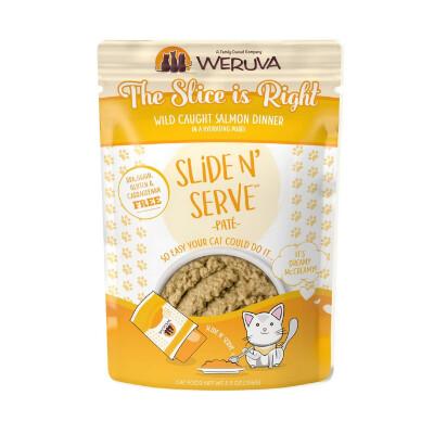 buy Weruva-Slide-N-Serve-The-Slice-is-Right-Wild-Caught-Salmon-Dinner-Pat-Grain-Free-Cat-Food