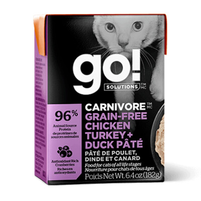 buy GO-Carnivore-Chicken-Turkey-And-Duck-Pt-For-Cats