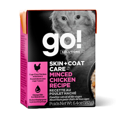 buy GO-Solutions-Skin-And-Coat-Care-Minced-Chicken-For-Cats