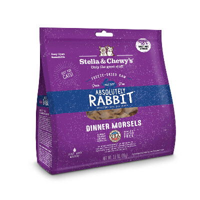 buy Stella-and-Chewys-Absolutely-Rabbit-Freeze-Dried-Raw-Cat-Food