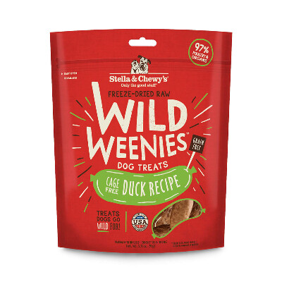 buy Stella-and-Chewys-Cage-Free-Duck-Wild-Weenies-Dog-Treats
