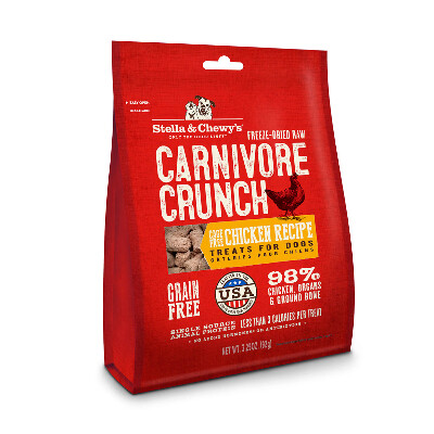 buy Stella-and-Chewys-Freeze-Dried-Chicken-Carnivore-Crunch-Dog-Treats