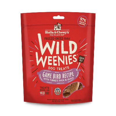 buy Stella-and-Chewys-Freeze-Dried-Game-Bird-Wild-Weenies-Dog-Treats