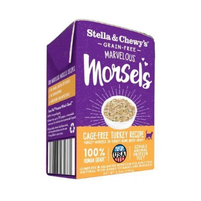 buy Stella-and-Chewys-Marvelous-Morsels-Cage-Free-Turkey-For-Cats