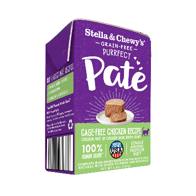 buy Stella-and-Chewys-Purrfect-Pat-Cage-Free-Chicken-Wet-Cat-Food