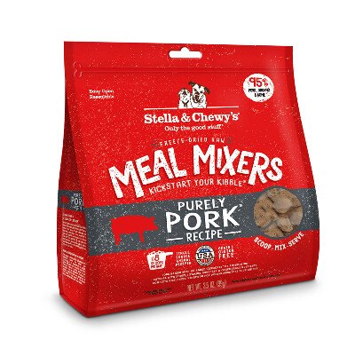 buy Stella-and-Chewys-Raw-Freeze-Dried-Purely-Pork-Meal-Mixers-Dog-Food