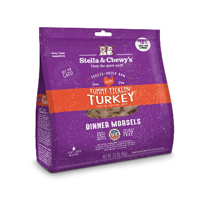 buy Stella-and-Chewys-Tummy-Ticklin-Turkey-Freeze-Dried-Raw-Cat-Food