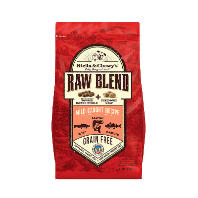 buy Stella-and-Chewys-Wild-Caught-Raw-Blend-Kibble-Dog-Food