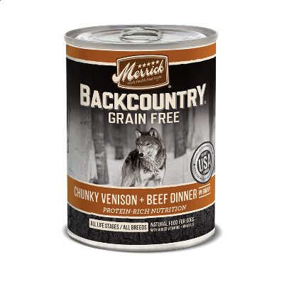 buy Merrick-Back-Country-Chunky-Venison-and-Beef-Canned-Dog-Food