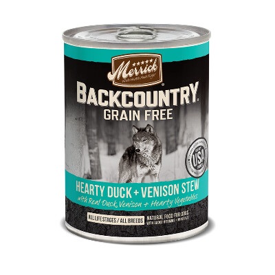 buy Merrick-Back-Country-Duck-and-Venison-Canned-Dog-Food