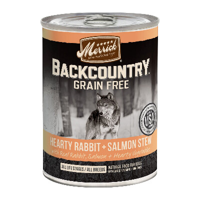 buy Merrick-Back-Country-Rabbit-and-Salmon-Stew-Canned-Dog-Food