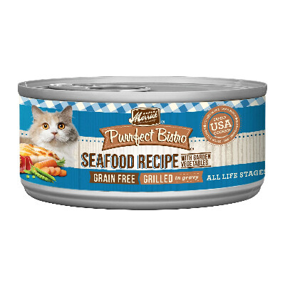 buy Merrick-Purrfect-Bistro-Mixed-Seafood-Canned-Cat-Food
