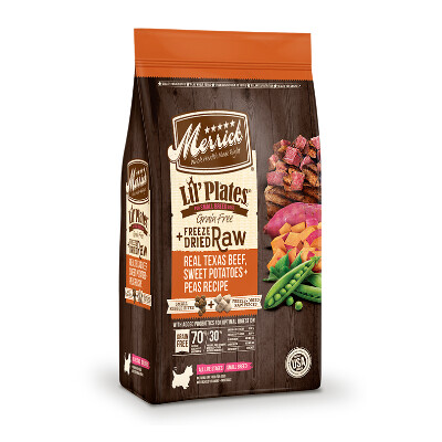 buy Merrick-Small-Breed-Beef-and-Sweet-Potato-with-Raw-Bites-Dog-Food