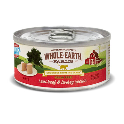 buy Whole-Earth-Farms-Beef-and-Turkey-Canned-Cat-Food