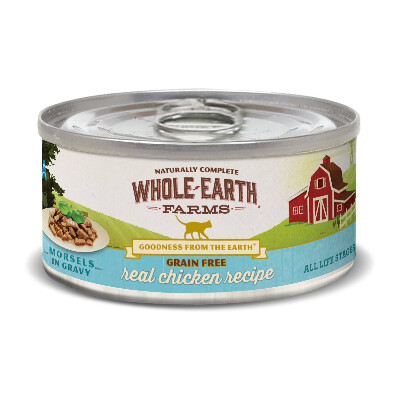buy Whole-Earth-Farms-Chicken-Morsels-Canned-Cat-Food