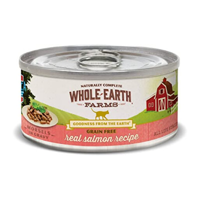 buy Whole-Earth-Farms-Salmon-Morsels-Canned-Cat-Food