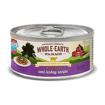 buy Whole-Earth-Farms-Turkey-Morsels-Canned-Cat-Food