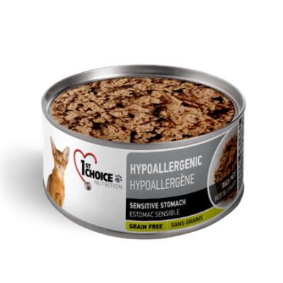 buy 1st-Choice-Hypoallergenic-Duck-Pate-Canned-Cat-Food