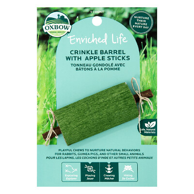 buy Oxbow-Enriched-Life-Crinkle-Barrel-With-Apple-Sticks-For-Small-Animals