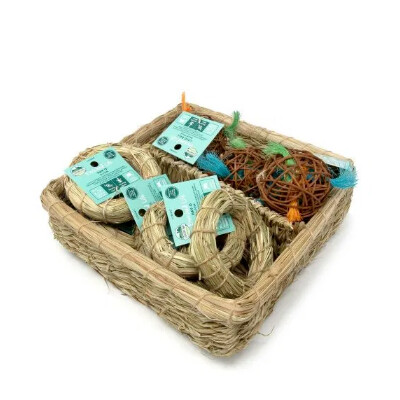 buy Oxbow-Enriched-Life-Hay-O-and-Loco-Ball-Basket-For-Small-Animals