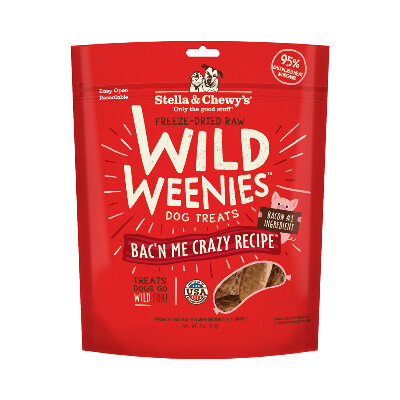 buy Stella-And-Chewys-Wild-Weenies-Bacn-Me-Crazy-Dog-Treats