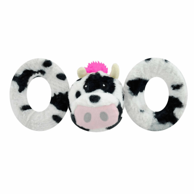 Jolly Pets Tug-a-Mals Cow Dog Toy   Canadian Pet Connection