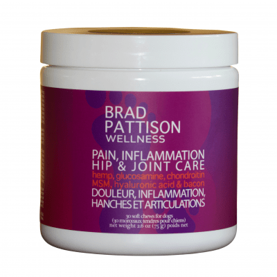 brad pattison wellness pet soft chews pain inflammation hip and joint care